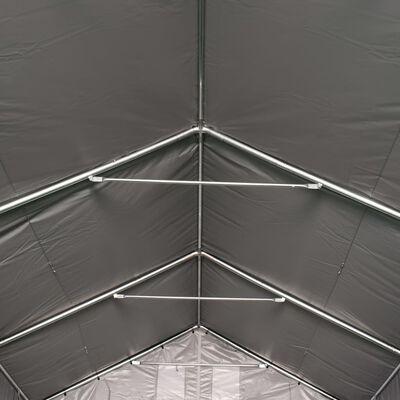 vidaXL Tente de rangement PVC 3 x 6 m Gris