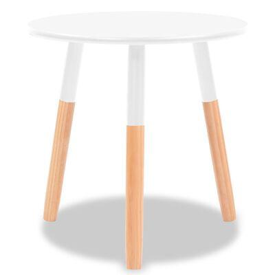 vidaXL Ensemble de tables d'appoint 2 pcs Bois de pin massif Blanc