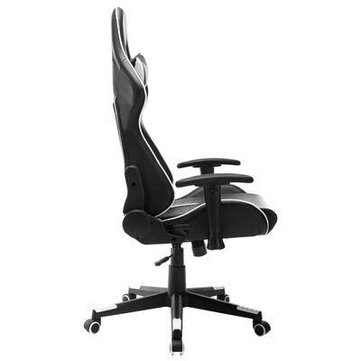 vidaXL Chaise de jeu Noir et blanc Cuir artificiel
