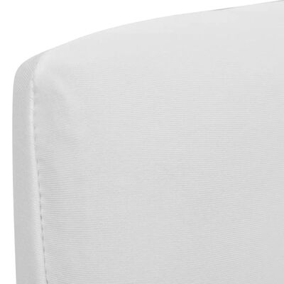 6 housses de chaise dos droit extensibles blanches