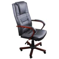 vidaXL Chaise de bureau de luxe Noir