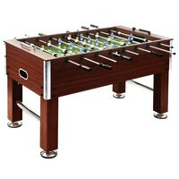 vidaXL Table de football Acier 60 kg 140 x 74,5 x 87,5 cm Marron