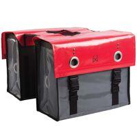 Willex Sacoches de vélo Tarpaulin 52 L Gris foncé et rouge