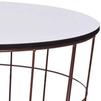 vidaXL Table basse Doré Ø 40 cm