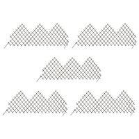 vidaXL Clôtures en treillis de jardin 5 pcs 170x75 cm Saule