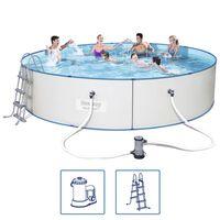 Bestway Jeu de piscine avec cadre en acier rond 460x90 cm 56386