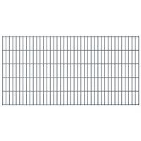 vidaXL Panneaux de clôture de jardin 2D 2,008x1,03 m 8 m total Gris