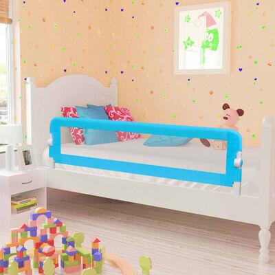 vidaXL Barrière de sécurité de lit enfant Bleu 120x42 cm Polyester