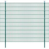 vidaXL Panneaux et poteaux de clôture 2D pour jardin 2008x2030 mm 42 m