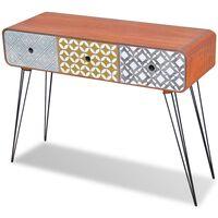 vidaXL Table console avec 3 tiroirs Marron