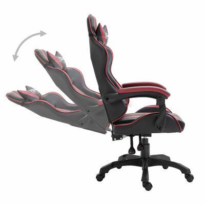 vidaXL Chaise de jeu Rouge bordeaux Similicuir, Winered