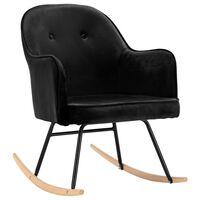 vidaXL Chaise à bascule Noir Velours