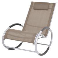 vidaXL Chaise à bascule d'extérieur Taupe Textilène