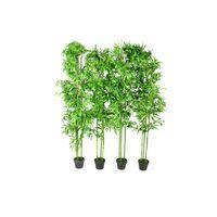 vidaXL Lot de 4 bambous artificiels Décor intérieur 190 cm