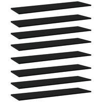 vidaXL Panneaux de bibliothèque 8 pcs Noir 100x30x1,5 cm Aggloméré