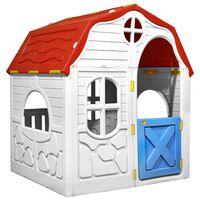 vidaXL Aire de jeu pliable avec porte et fenêtres fonctionnelles
