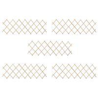 vidaXL Clôture à treillis 5 pcs Bois de sapin 180x60 cm