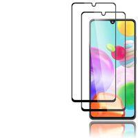 Lot de 2 protections d'écran pour Samsung Galaxy A41 noir
