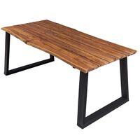 vidaXL Table de salle à manger 170x90x75 cm Bois d'acacia massif
