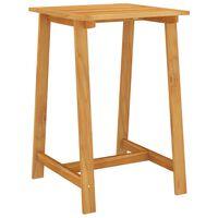 vidaXL Table de bar de jardin 70x70x104 cm Bois d'acacia massif