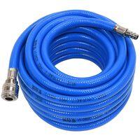 YATO Tuyau d'air avec raccord PVC 10 mm x 10 m Bleu