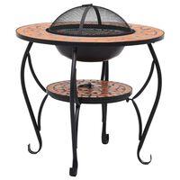 vidaXL Table de foyer mosaïque Terre cuite 68 cm Céramique