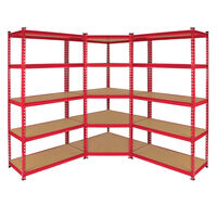 Monster Racking 1 Rayonnage D'angle Z-rax Rouge & 2 Rayonnages Z-rax