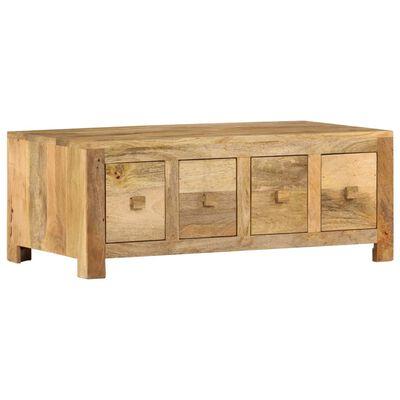 vidaXL Table basse avec 4 tiroirs 90x50x35 cm Bois solide de manguier
