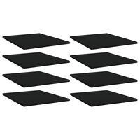 vidaXL Panneaux de bibliothèque 8 pcs Noir 40x50x1,5 cm Aggloméré