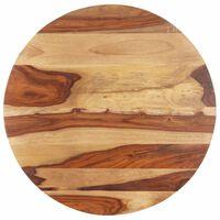 vidaXL Dessus de table Bois solide Rond 15-16 mm 50 cm