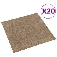 vidaXL Dalles de tapis de sol 20 pcs 5 m² Beige