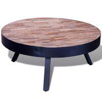 vidaXL Table basse ronde Bois de teck recyclé