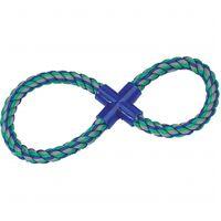 Jchien coton jim corde de tirage 8-anneau multicolore 37cm