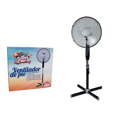 Ventilateur Portable - 40cm - 45w - Réglable En Hauteur - 3 Vitesses -