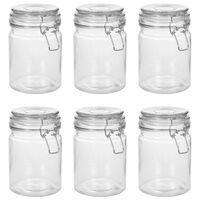 vidaXL Pots de conservation avec couvercle clipsable 6 pcs 750 ml