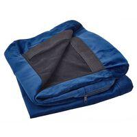 Housse en velours bleu marine pour canapé 2 places BERNES