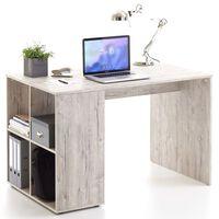 FMD Bureau avec étagères latérales 117x73x75 cm Chêne sable