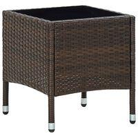 vidaXL Table de jardin Marron 40x40x45 cm Résine tressée
