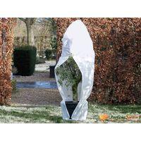 Nature Couverture d'hiver avec fermeture 70 g/m² Blanc 2,5x2,5x3 m