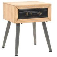 vidaXL Table de chevet Bois de sapin massif 43 x 38 x 50 cm