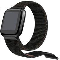 Bracelet en nylon supplémentaire pour Fitbit Versa - noir