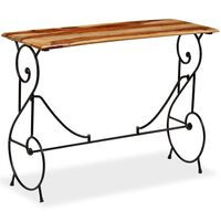 vidaXL Table console Bois massif de Sesham 100 x 40 x 75 cm