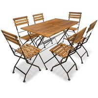 vidaXL Mobilier à dîner pliable d'extérieur 7 pcs Bois d'acacia solide