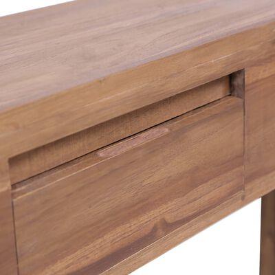 vidaXL Table console 145x30x80 cm Bois de teck solide