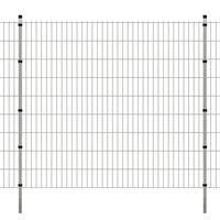 vidaXL Panneaux et poteaux de clôture 2D pour jardin 2008x1830 mm 34 m