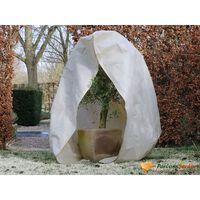 Nature Couverture d'hiver avec fermeture 70 g/m² Beige 3x2,5x2,5 m