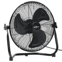 vidaXL Ventilateur de sol 3 vitesses 45 cm 60 W Noir