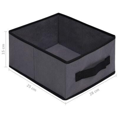 vidaXL Armoire de rangement à 6 tiroirs 55x29x55 cm Gris Acier