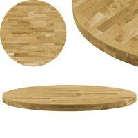 vidaXL Dessus de table Bois de chêne massif Rond 44 mm 800 mm