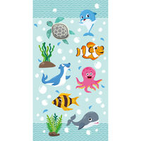 Good Morning Serviette de plage SEAWORLD 75x150 cm Bleu aqua